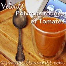 velouté de poivrons rouges aux tomates