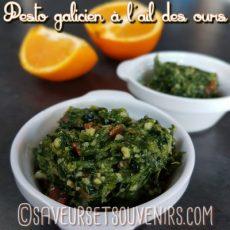 La saveur subtile de l'orange de mon Pesto galicien à l'ail des ours sublime les amandes en créant un goût merveilleux
