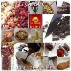 Les différentes étapes dans la confection de mes Chorizo au Chocolat