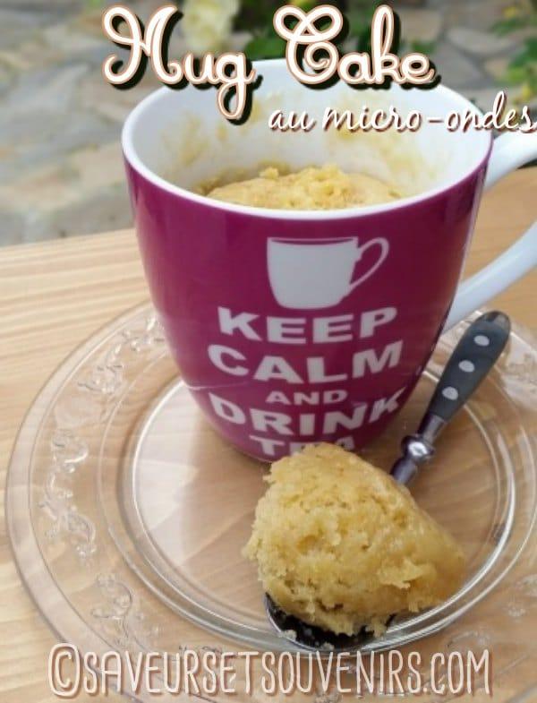 Le fameux Mug Cake se réalise selon le principe du Quatre Quarts : tant pour tant d'oeuf, de sucre, de farine et de beurre