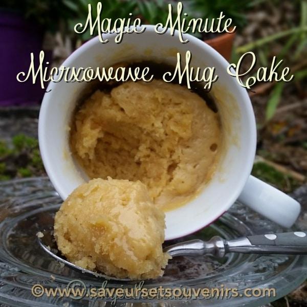 Ici mon Mug Cake est tout simple, mais vous pouvez le varier à l'infini en ajoutant fruits, chocolat, cacao, noix de coco...