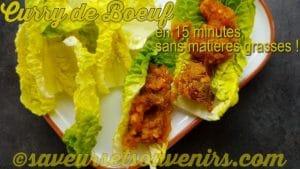 Pour une variante délicieuse, servir ce curry de boeuf dans des feuilles de sucrine