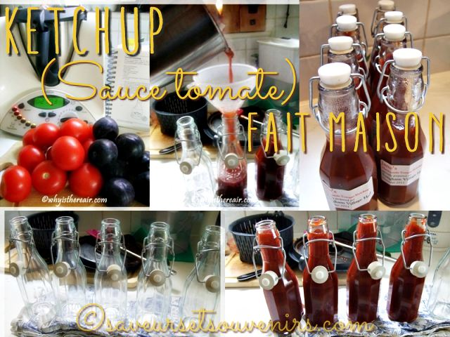 Quelques étapes dans la confection au Thermomix d'une délicieuse sauce ketchup