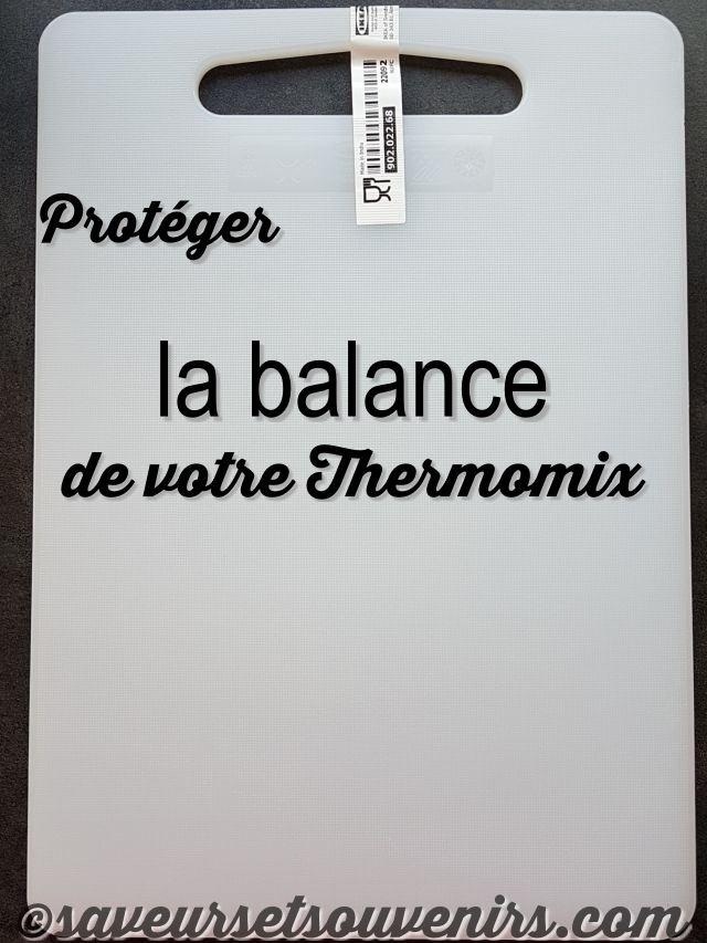 A 2€ pièce la planche à découper LEGITIM de chez IKEA est parfaite pour protéger la balance de votre Thermomix