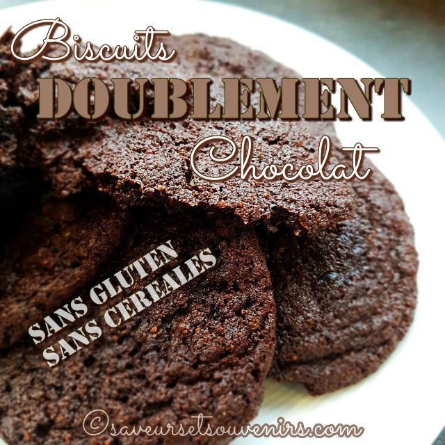 La recette de ces biscuits doublement chocolat est facile et rapide à faire au Thermomix, pour mieux répondre à une subite envie de chocolat ou pour préparer le goûter des enfants à la sortie de l'école.