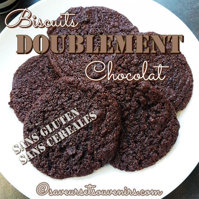 Sans gluten et sans céréales, ces biscuits doublement chocolat ne sont pas forcément sans culpabilité !